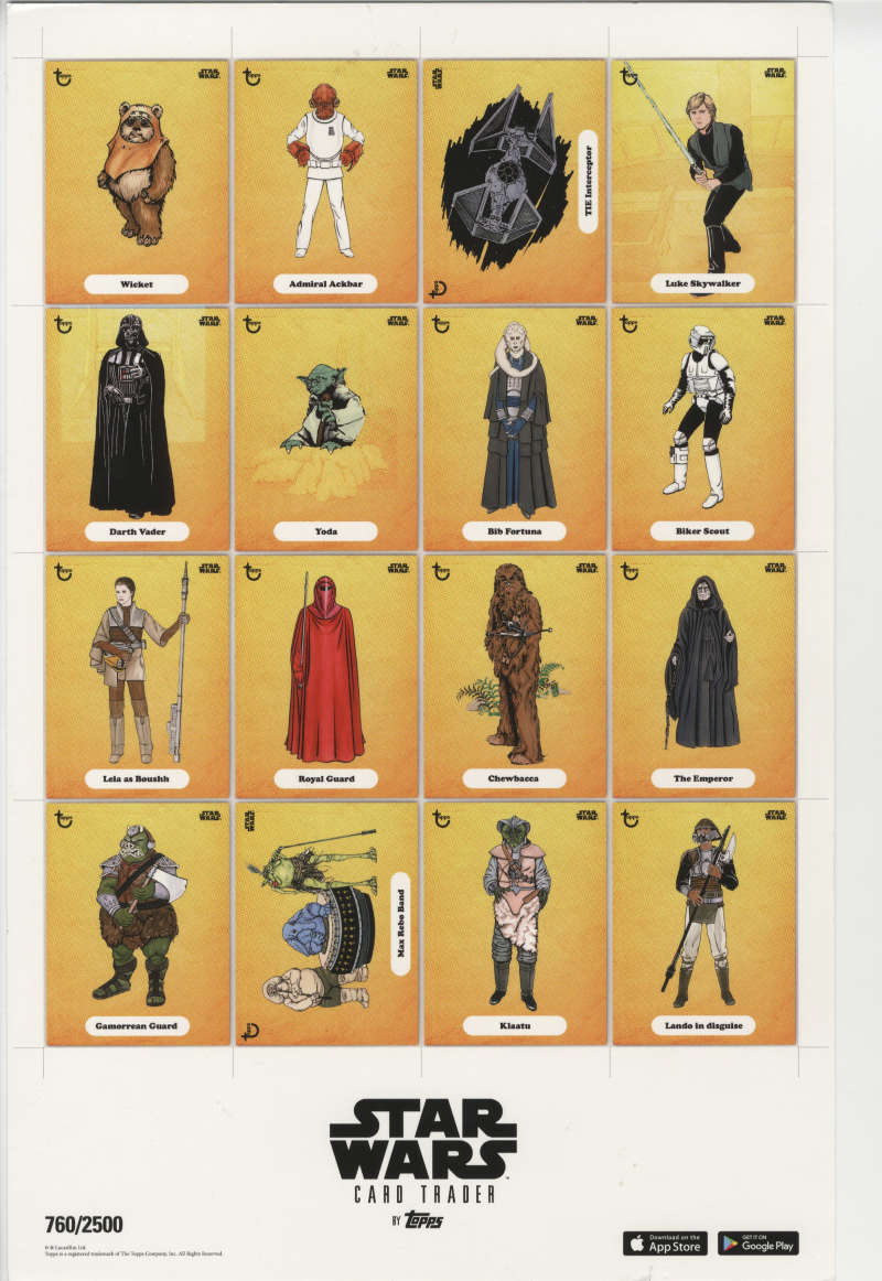 Star Wars Topps Card Trader ROTJ Poster NYCC Exclusive /2500