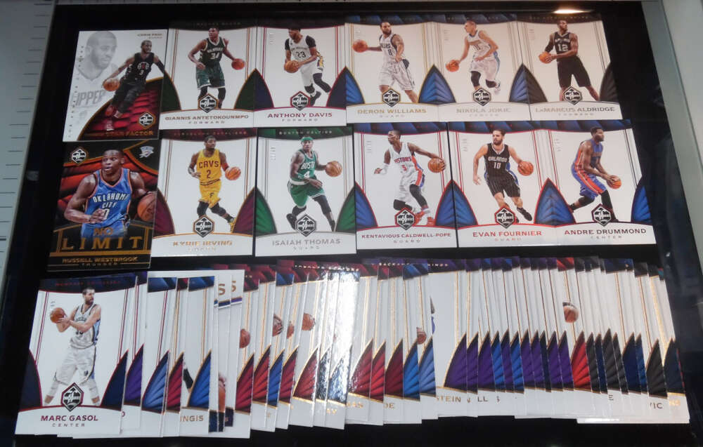 2016-17 Panini Limited Lot of 58 Cards Giannis Anthony Davis New