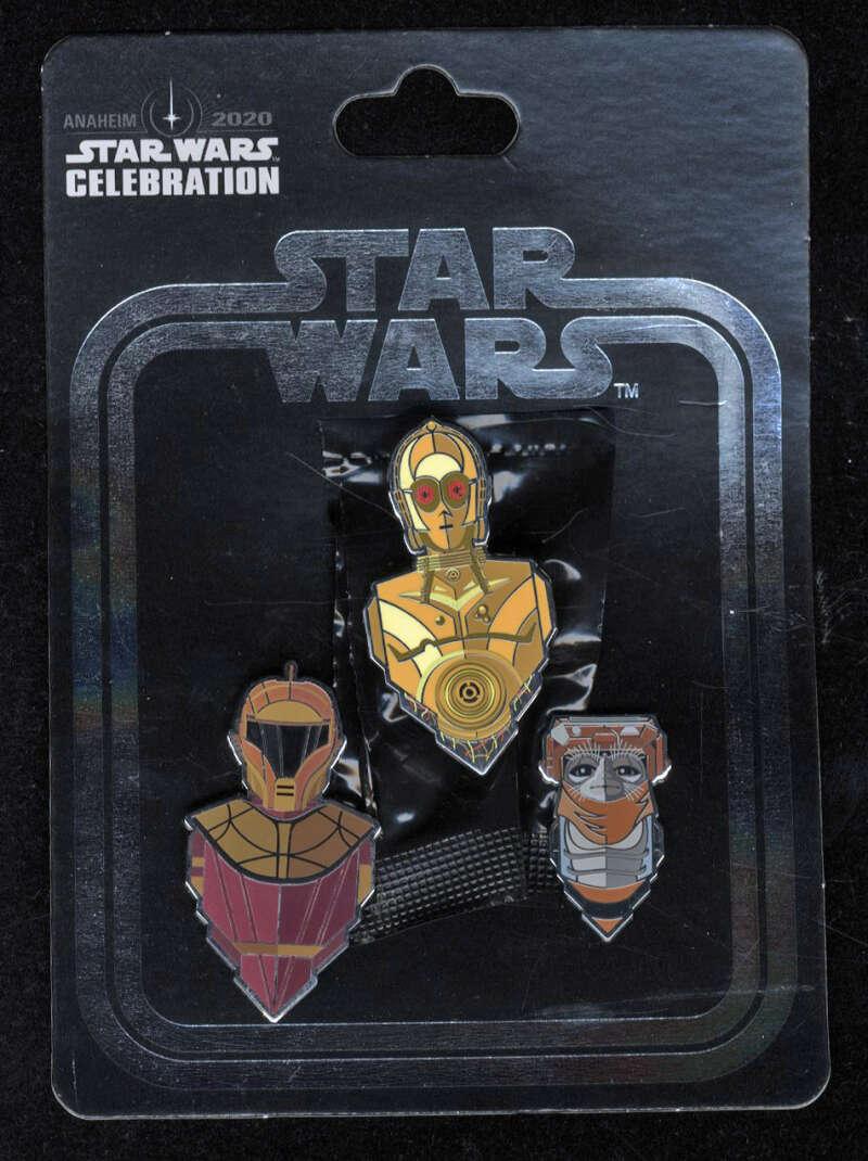 Star Wars Celebration 2020 ROS Pin Set Exclusive Anaheim Babu Frik C-3PO Red Eyes
