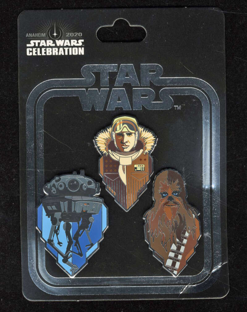 Star Wars Celebration 2020 ESB Pin Empire Exclusive Anaheim Han Solo Chewbacca Probe Droid