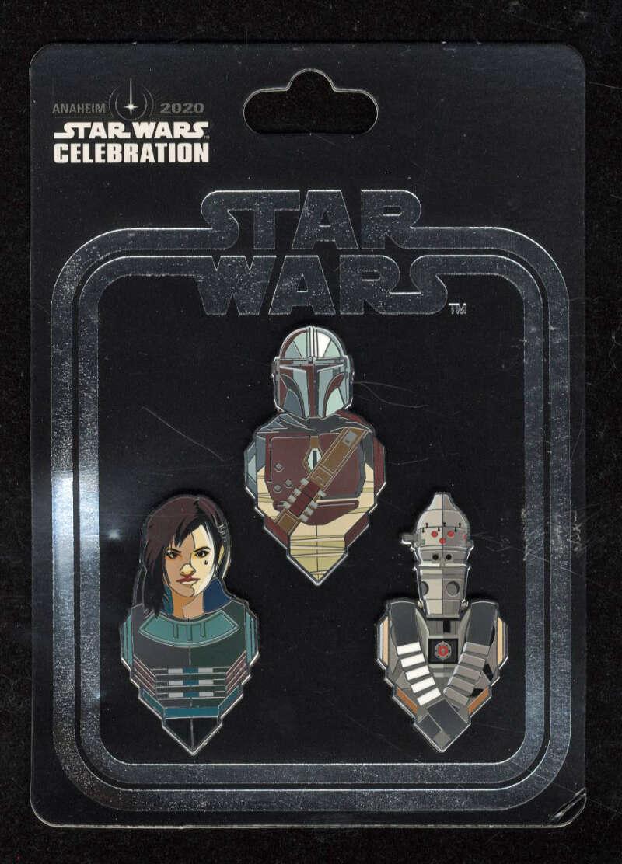 Star Wars Celebration 2020 Mandalorian Mando Pin Exclusive Anaheim Cara Dune IG-11