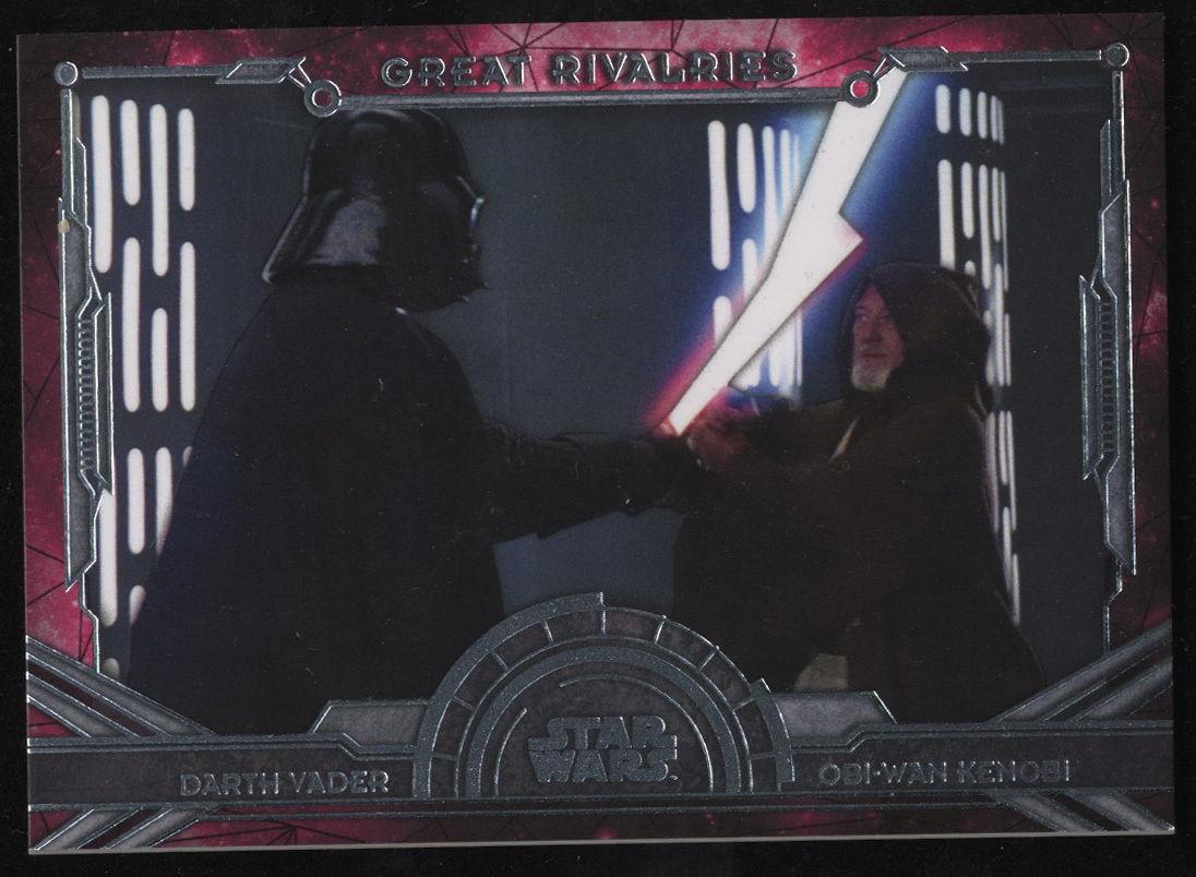 Star Wars 2016 Masterworks Great Rivalries Darth Vader Ben Kenobi GR-1 Topps