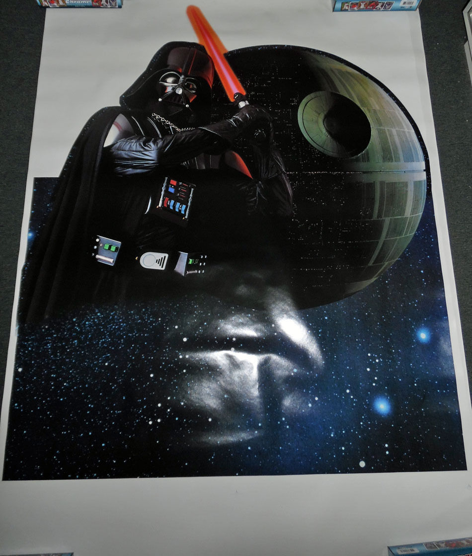 Pepsi Display Proof Sheet Death Star& Darth Vader Prototype