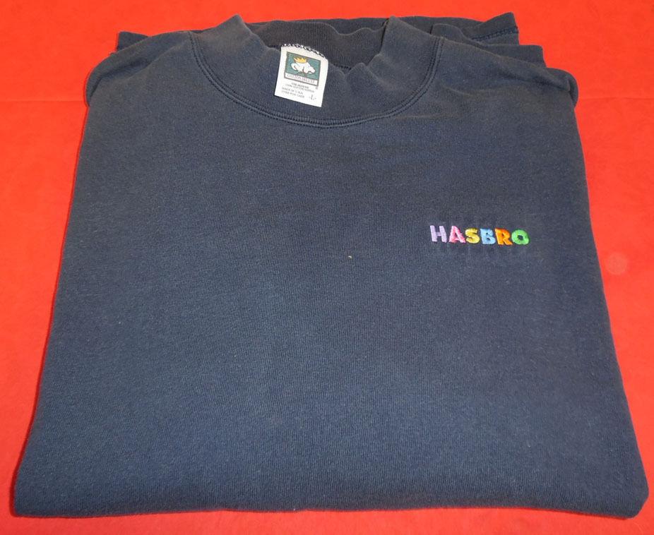 Hasbro Logo Internal Only Blue Long Sleeve Large Size Shirt