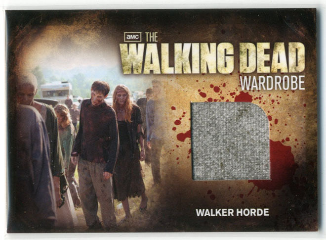 Walking Dead Season 2 TV Walker Horder Grey Wardrobe Card M30