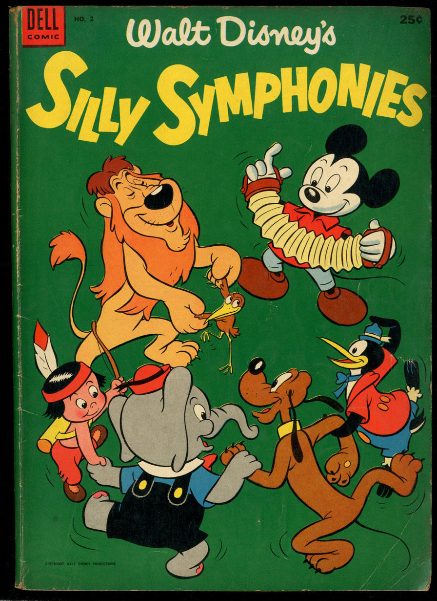 Walt Disney's Silly Symphonies #2 VG CR/OW Pages Dell Giant Comics
