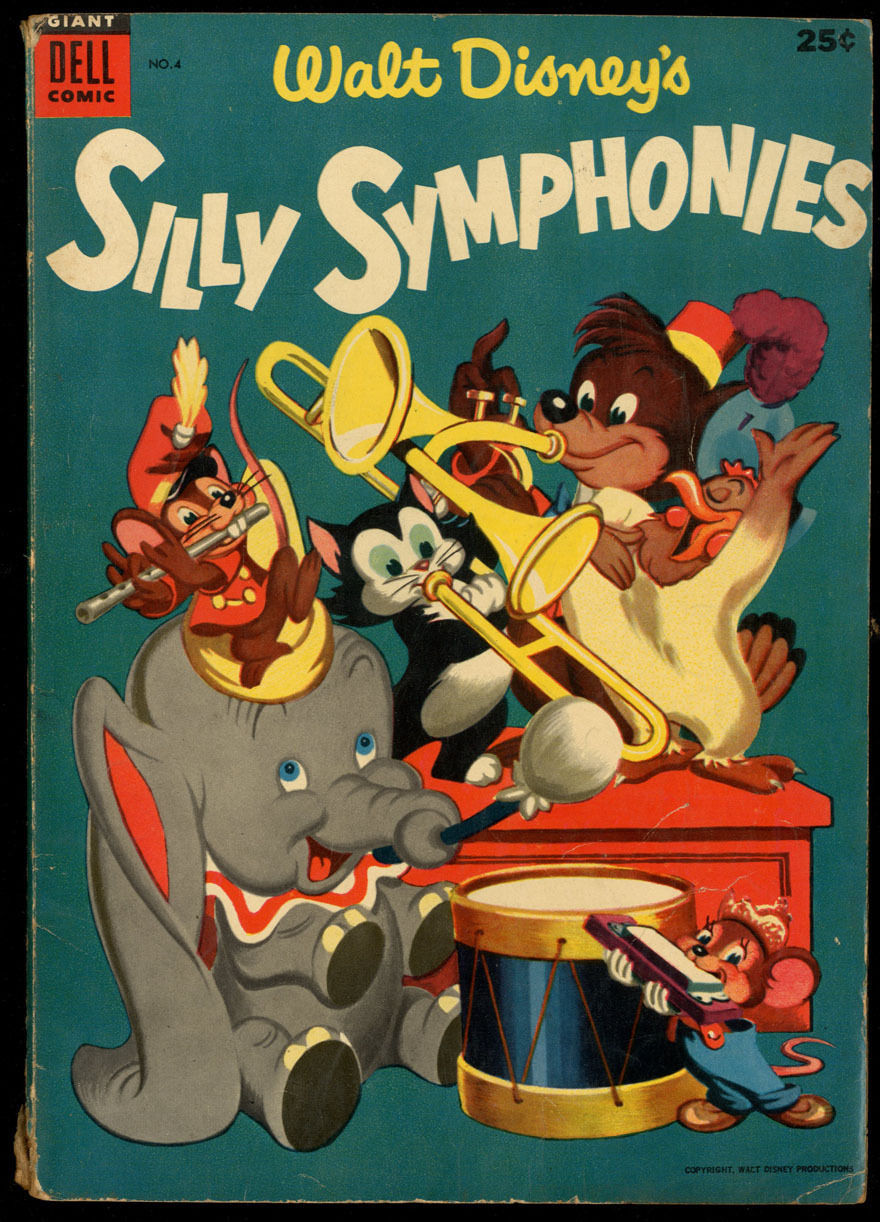 Walt Disney's Silly Symphonies #4 VG- CR/OW Pages Dell Giant Comics