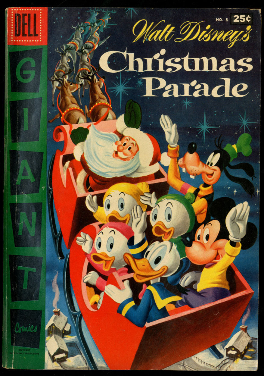 Walt Disney's Christmas Parade #8 VG/FN CR/OW Pages Dell Giant Comics