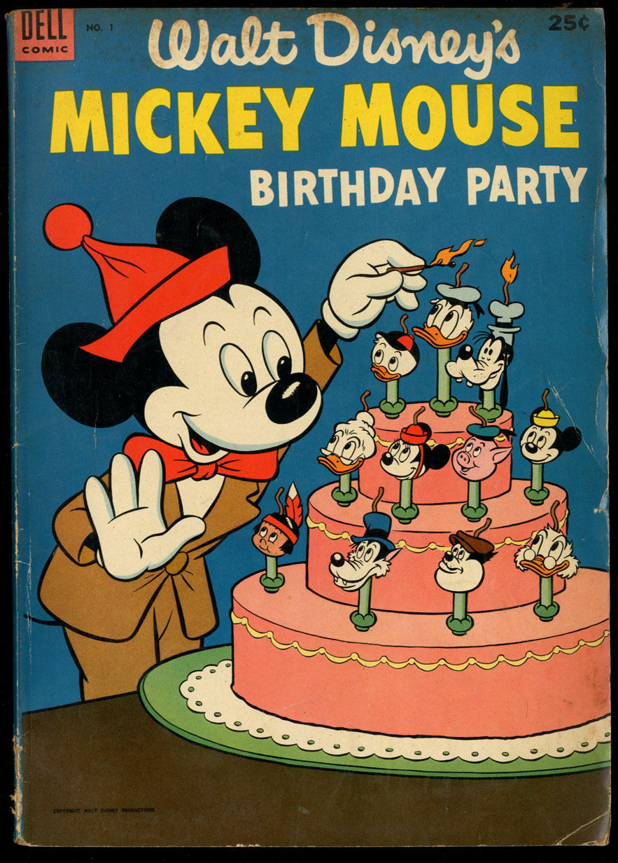Walt Disney's Mickey Mouse Birthday Party #1 GD/VG CR/OW Pages Dell Giant Comics