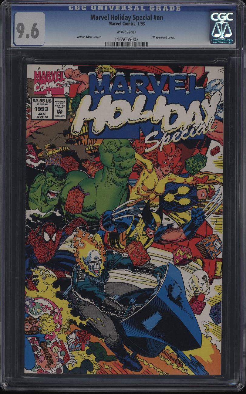 Marvel Holiday Special #nn CGC 9.6 WP Thanos App Arthur Adams Wraparound Cover
