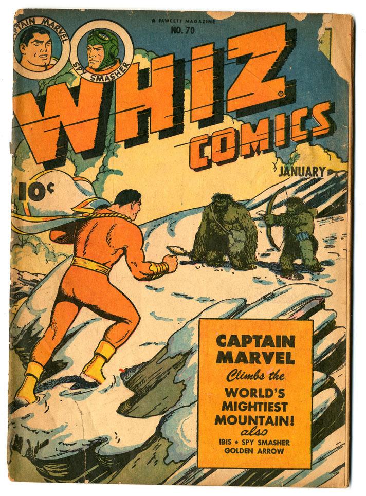 Whiz Comics #70 Cr Pages Cover Detached Good