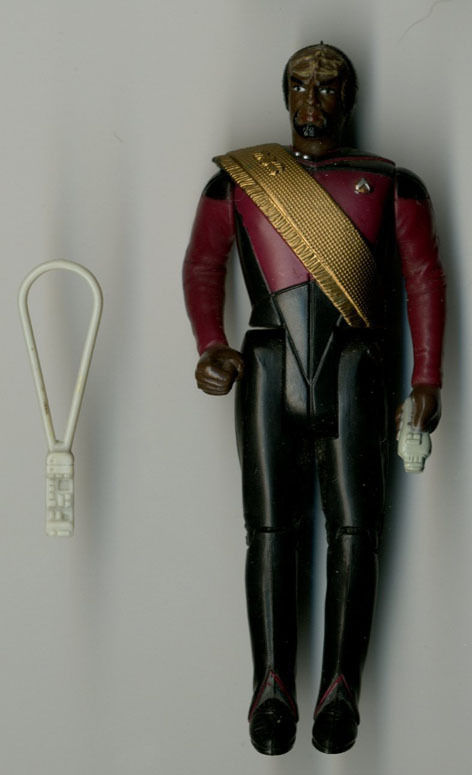 Star Trek The Next Generation Lt Worf Figure Loose Complete 1989 Galoob