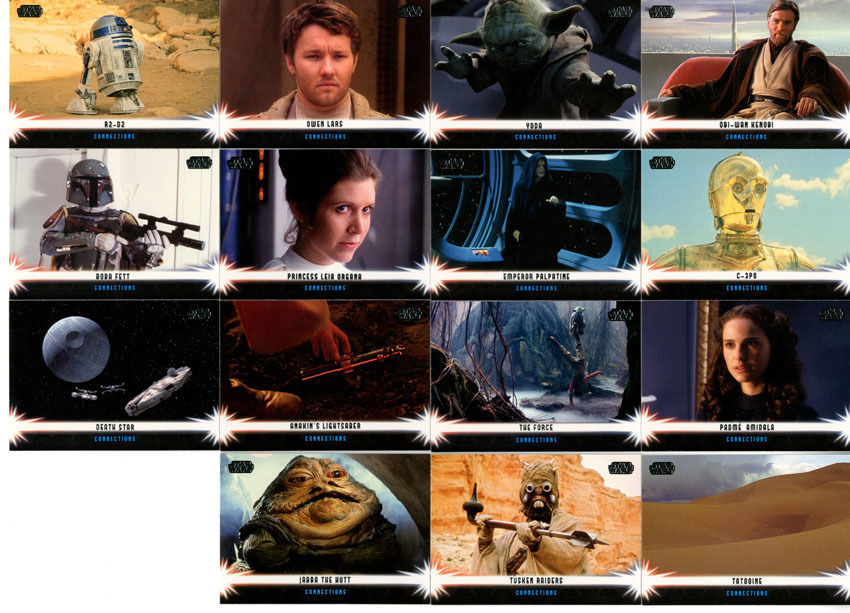 Star Wars Jedi Legacy Connections Chase Set C1-C15 Topps 2013