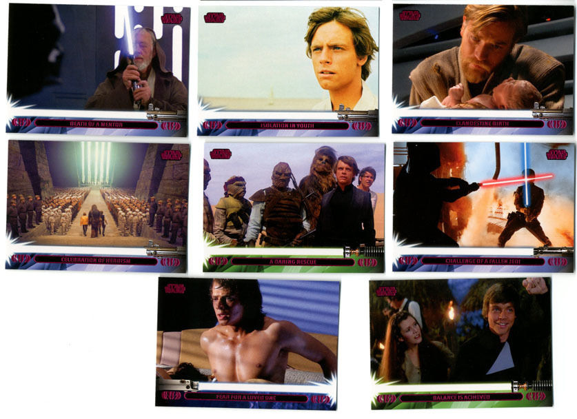 Star Wars Jedi Legacy Red Paralell Cards Topps 2013 Lot of 8