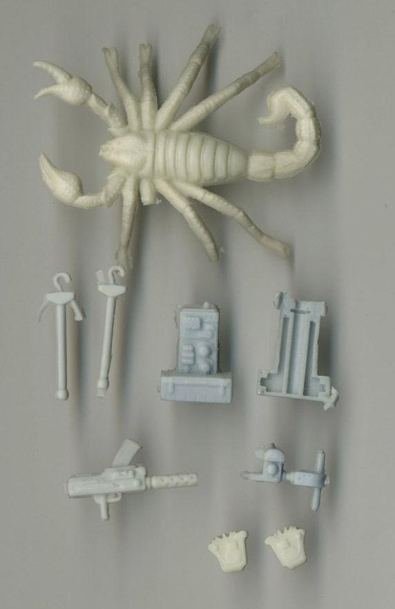 G I Joe ARAH Cobra Desert Scorpion Unpainted Hardcopy Weapon Prototypes 1991