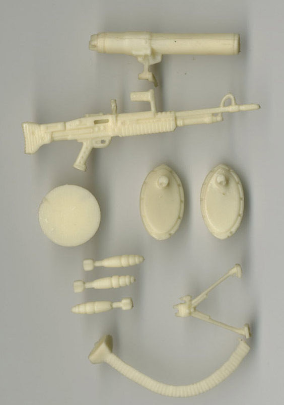 G I Joe ARAH Sub Zero Unpainted Hardcopy Weapon Prototypes 1990