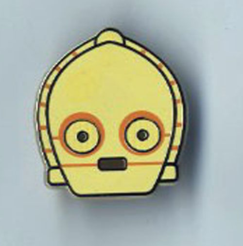 Star Wars Celebration Europe 2016 Emoji C-3PO Pin US Seller