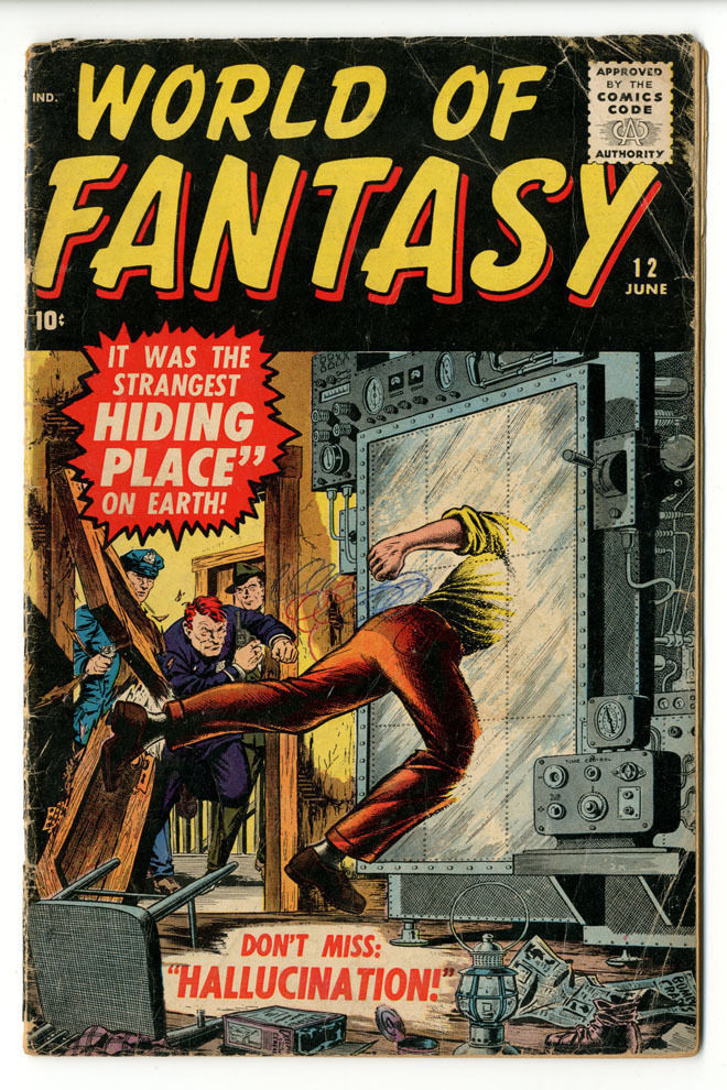 World of Fantasy #12 OW/W Pages Good + Tough book