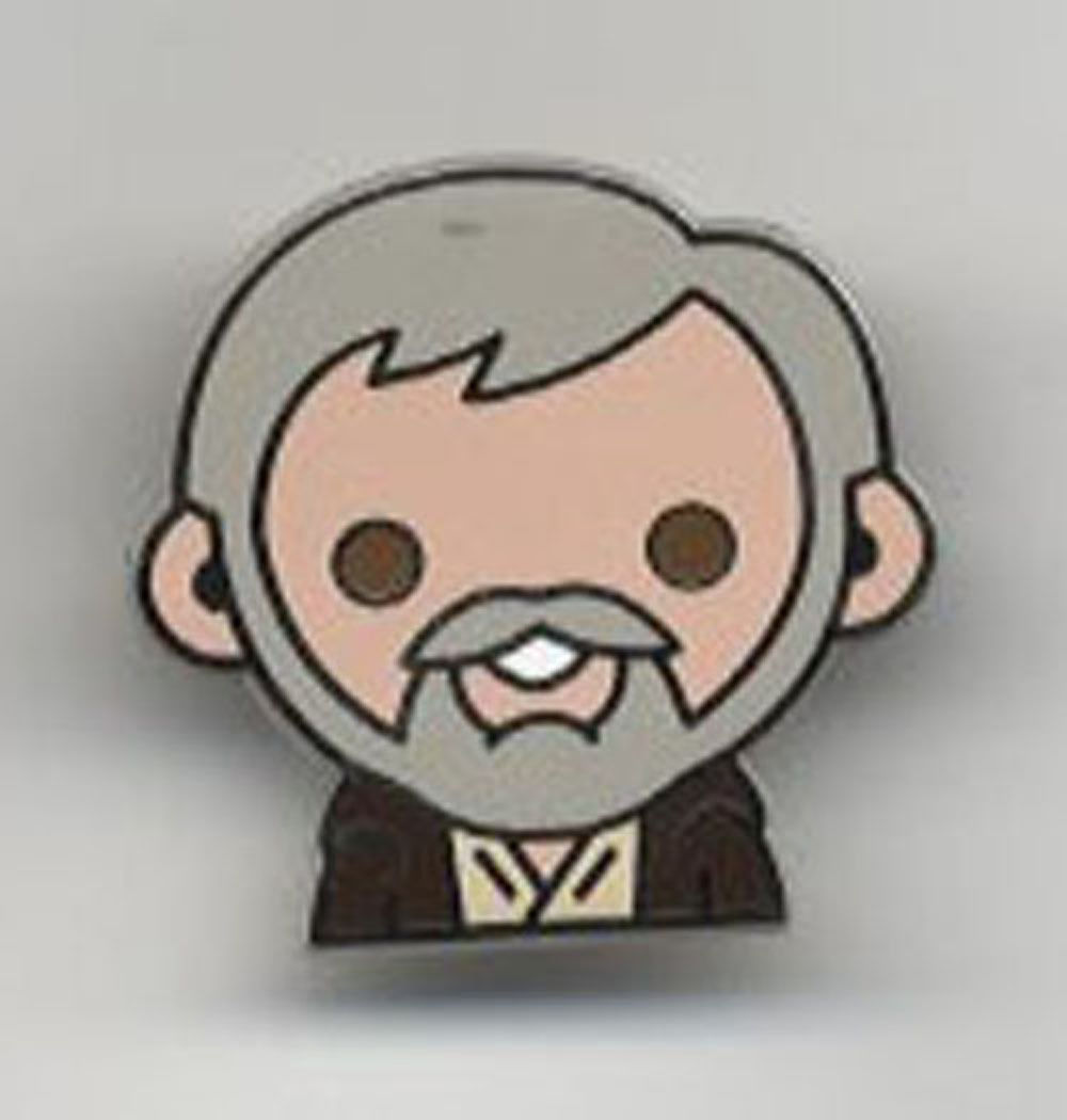 Star Wars Celebration Europe 2016 Emoji Obi Wan Ben Kenobi Pin US Seller RARE