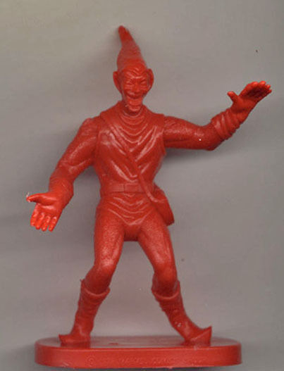 1978 Gulliver Green Goblin Spider Man Plastic Figure Red Mint Unused