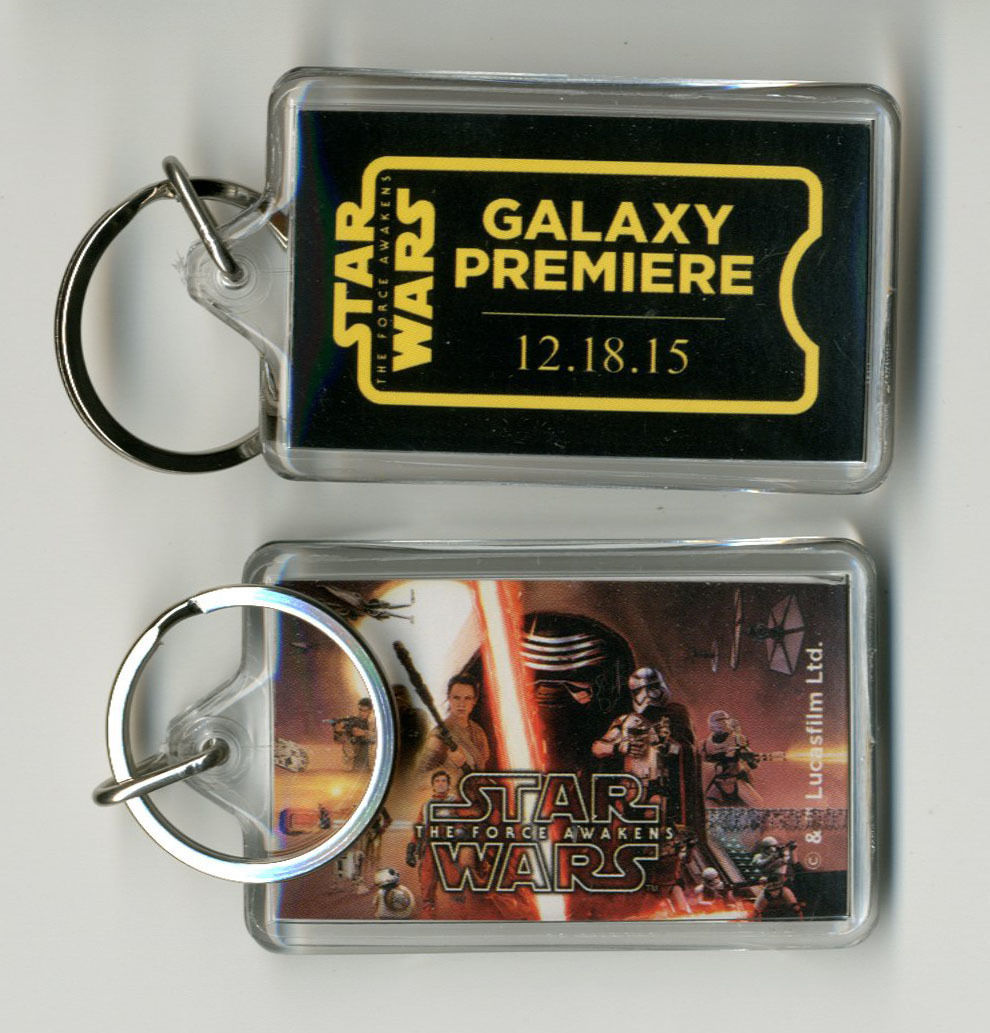 Star Wars The Force Awakens Episode 7 Premiere Exclusive Key Chain 12/18/15