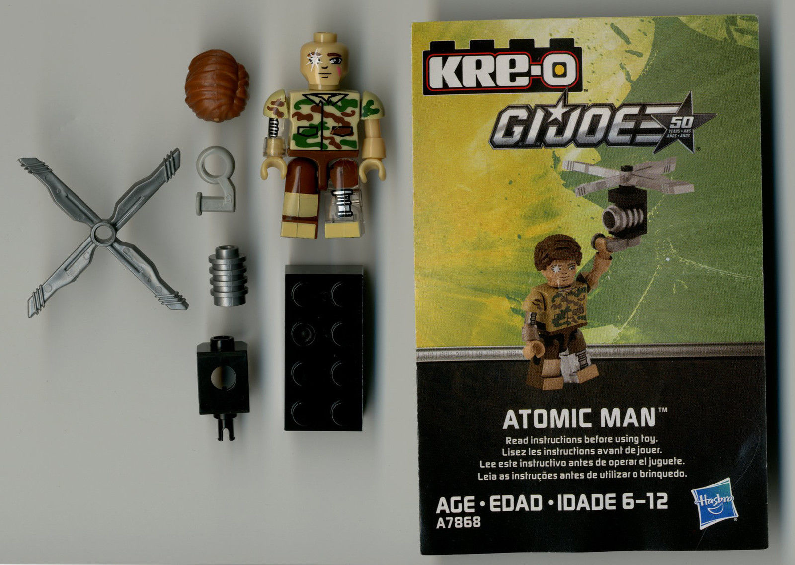 G I Joe A Real American Hero Kre-O Atomic Man Figure Complete Series 3