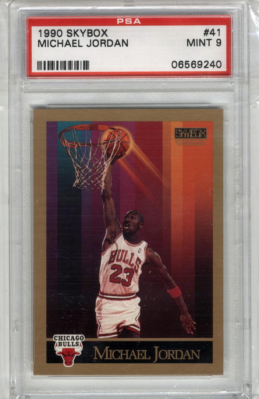 1990 Skybox Michael Jordan #41 PSA Mint 9 Bulls HOF