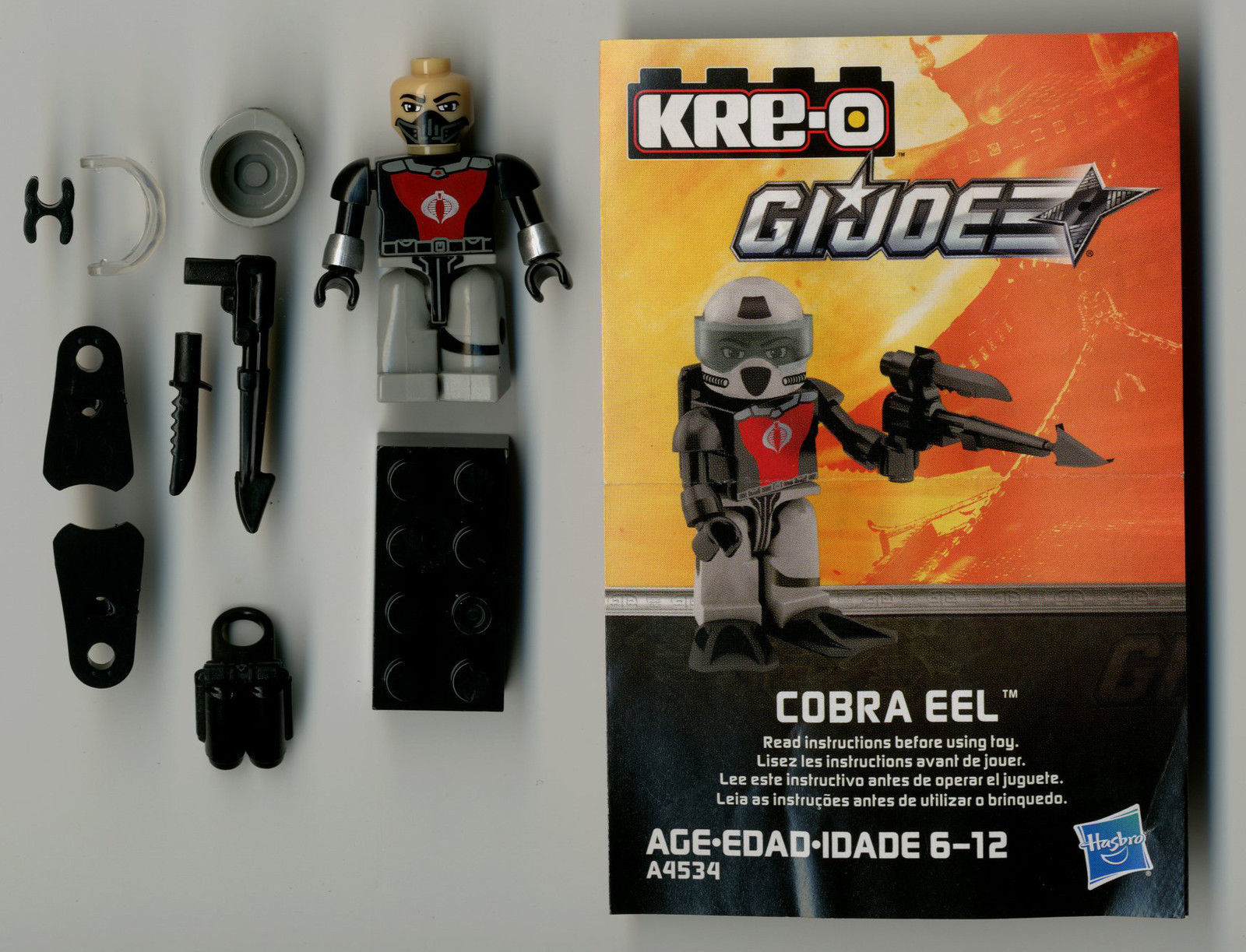 G I Joe A Real American Hero Kre-O Cobra Eel Figure Complete Series 2