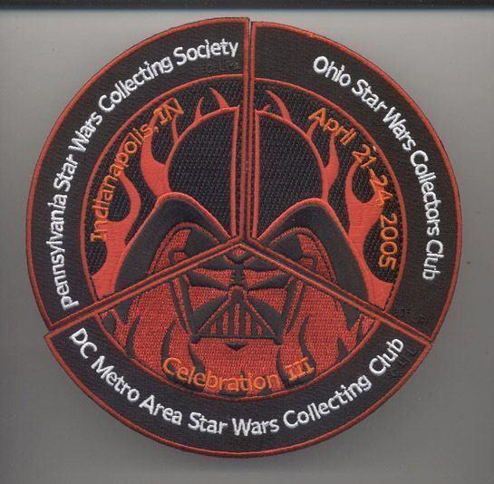 Star Wars Celebration 3 Darth Vader in Flames Fan Club Patch