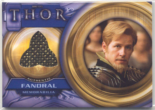 Thor Movie Fandral Memorabilia Costume Card F8