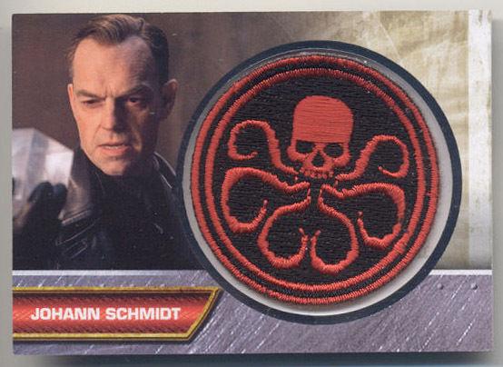 Captain America Movie Red Skull Johann Schmidt Red Skull Patch Card I-1