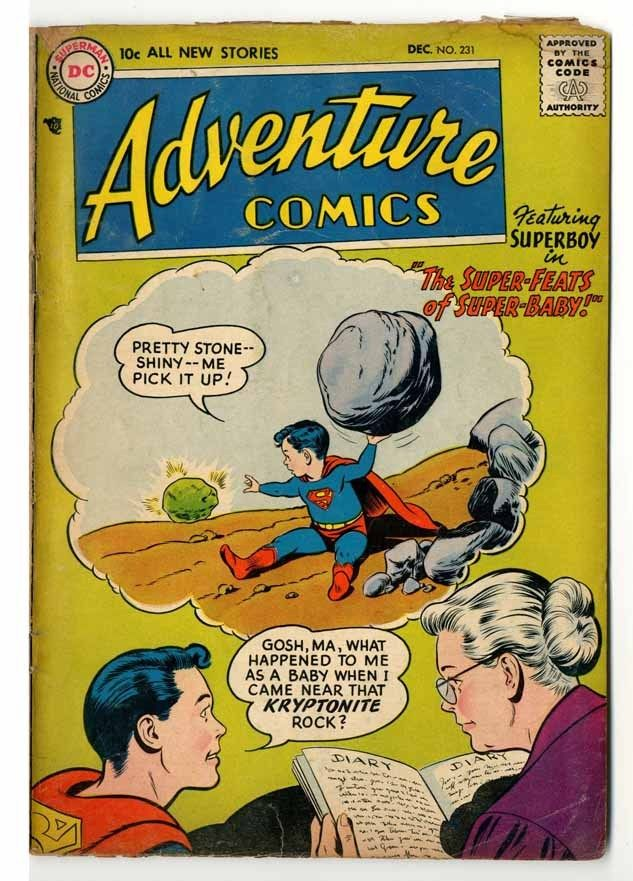 Adventure Comics #231 Cream to Off White Pages Goo
