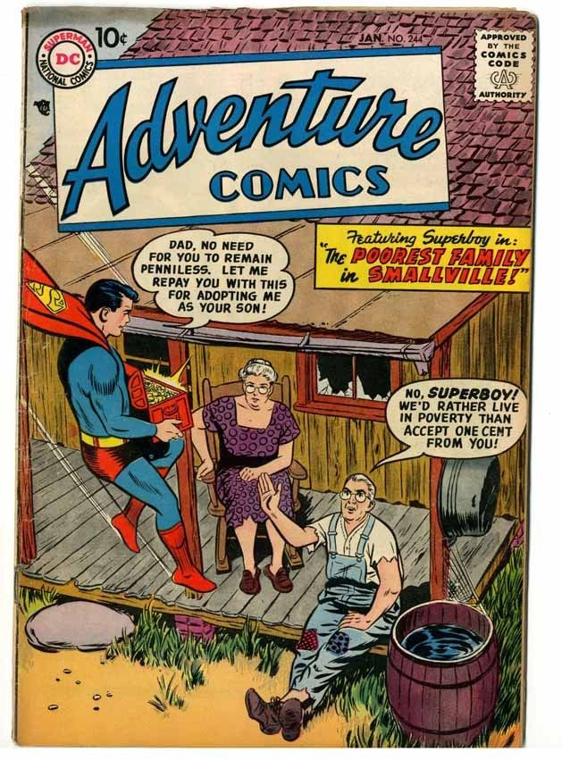 Adventure Comics #244 Cream to Off White Pages G/V