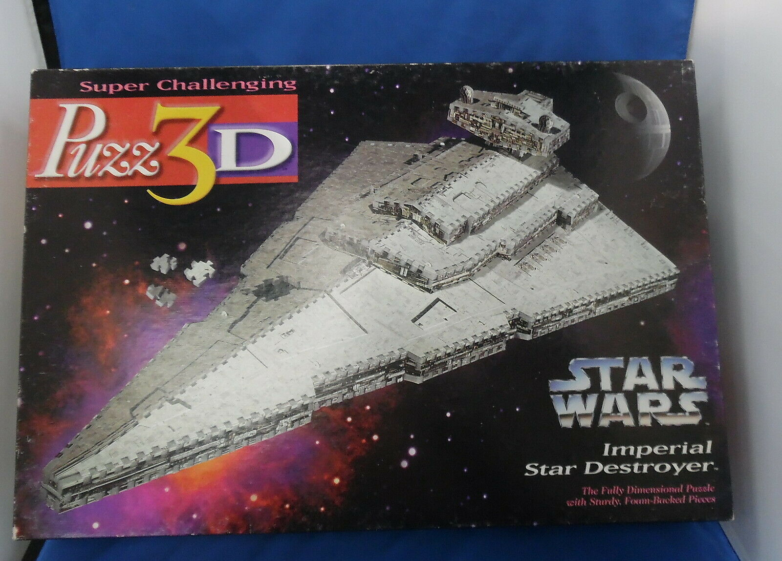Star Wars Puzz3D Imperial Star Destoryer 3D Puzzle Complete 823 Pieces 1996