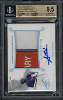 2017 Leaf Trinity Amed Rosario Patch BGS 9.5 Auto 9 Silver Spectrum 3/5