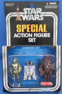 Star Wars Action Figure Set Android C-3PO R2-D2 Chewbacca Target Exclusive Kenner
