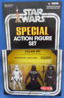 Star Wars Action Figure Set Villain Stormtrooper Darth Vader Death Squad Commander Target Exclusive Kenner