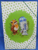 Star Wars Ewok Droids Folder Mundi Paper 1986 Spanish Wicket R2D2