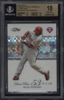 2007 Topps Finest Ryan Howard #RHHR53 BGS 10 Pristine Moments X-Fractors 29/50