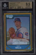2007 Bowman Chrome Randy Wells #BC74 BGS 9.5 Gem Mint Prospects Gold Refractors 11/50 Rookie Card RC