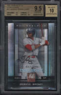 2008 Donruss Elite Dominic Brown #121 BGS 9.5 Gem Mint Extra Edition Autograph 10 457/996 Rookie Card RC