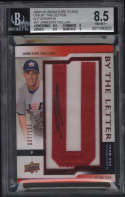 2009 Upper Deck Signature Stars Jameson Taillon #JT BGS 8.5 NM-MT+ USA By the Letter Jersey Patch Autograph 10 27/100