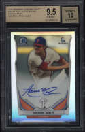 2014 Bowman Chrome Draft Aaron Nola #BCAAN BGS 9.5 Gem Mint Picks Autographs 10 Refractor Rookie Card RC