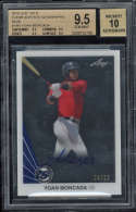 2015 Leaf 25th Yoan Moncada #YM1 BGS 9.5 Clear Acetate Autographs 10 4/25