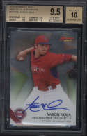 20115 Bowman's Best Aaron Nola #B15ANO BGS 9.5 Best of '15 Autographs 10