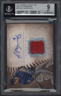2015 Bowman Inception Javier Baez #IARJBA BGS 9 Mint Relic Autographs 10