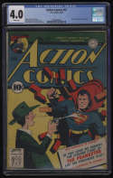 Action Comics #51 CGC 4.0 White Pages 1942 1st Appearance The Prankster