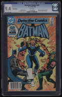 Detective Comics #554 CGC 9.4 White Pages Canadian Edition Black Canary New Costume