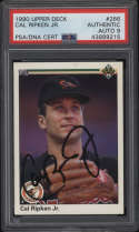 1990 Upper Deck Cal Ripken Jr. #266 Authentic Autograph PSA/DNA 9 Mint