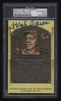 2018 HA Art of Baseball Hank Aaron Autographed HOF Plaque 12/26 PSA Short Print